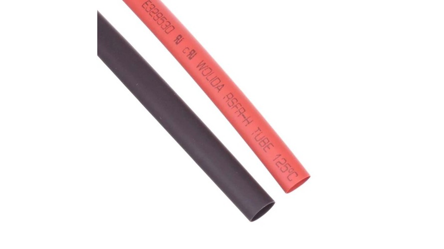 Shrink Tubing 6mm Red - Black ATS-9306