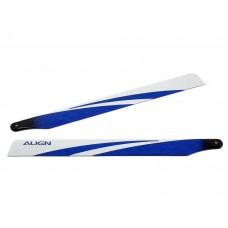 T-REX 325 Carbon Fiber Blades - Blue Blemish