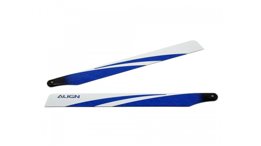 T-REX 425 Carbon Fiber Blades - Blue Blemish HD420GQCB by Align