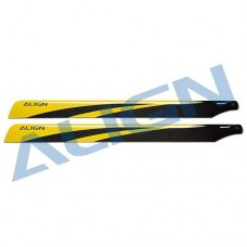 650 Carbon Fiber Blades - Yellow