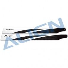T-REX 380 Carbon Fiber Blades - Black
