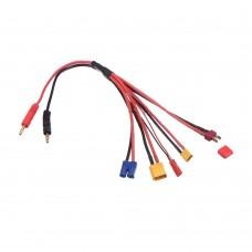 Universal Charge Cable 5 Outlet XT30 XT60 TPLUG EC3 JST