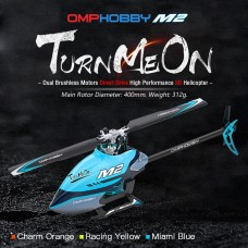 OMPHOBBY M2 Dual Brushless Direct Drive Bind and Fly Blue Replaced by OSHM2V2-P