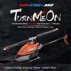 OMPHOBBY M2 Dual Brushless Direct Drive Bind and Fly Orange Replaced by OSHM2V2-O