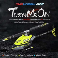 OMPHOBBY M2 Dual Brushless Direct Drive Bind and Fly Yellow Replaced by OSHM2V2-Y