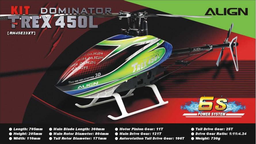 T-REX 450L Dominator Kit 6S RH45E23X by Align