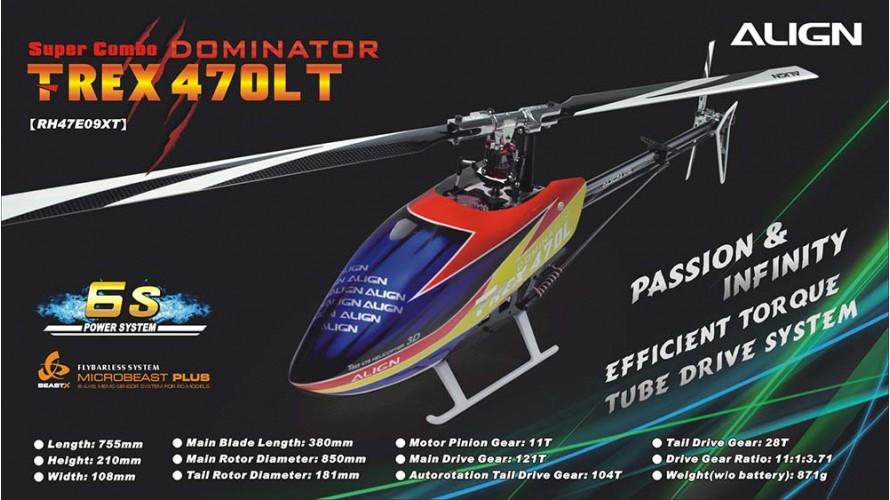 T-REX 470LT Dominator Super Combo Torque Tube RH47E09X