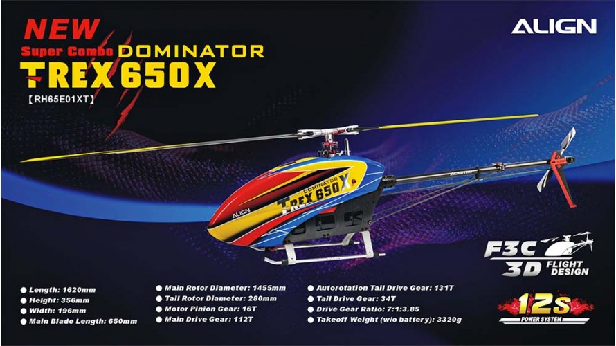 T-REX 650X Dominator Super Combo RH65E01X