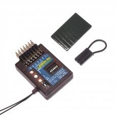 RX 7 Channel Lemon Stabilizer PLUS DSMP Receiver with Gyro DSMX Compatible