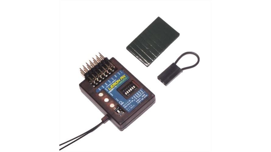 RX 7 Channel Lemon Stabilizer PLUS DSMP Receiver with Gyro DSMX Compatible LM0044
